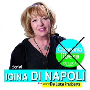 igina di napoli candidata con De Luca