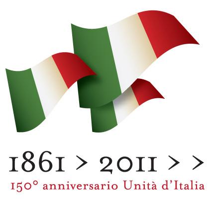 logo per i 150 anni dell'unità