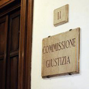 la commissione giustizia al senato