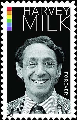 il francobollo commemorativo dedicato a Harvey Milk