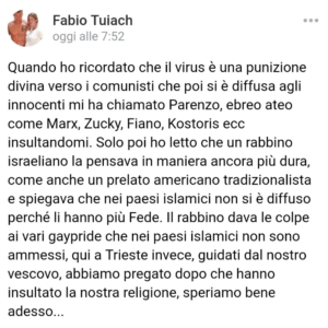 Fabio-Tuiach-post-facebook-Coronavirus-trieste-immune-ma-i-gay-no
