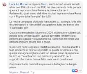 Luca Maria Lo Muzio Lezza risponde a Mario Adinolfi sulle elzioni suppletive di Roma