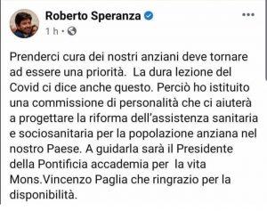 Ministro-Roberto-Speranza-nomina-arcivescovo-Paglia-a-capo-di-un-organo-dello-Stato-gaypress.it