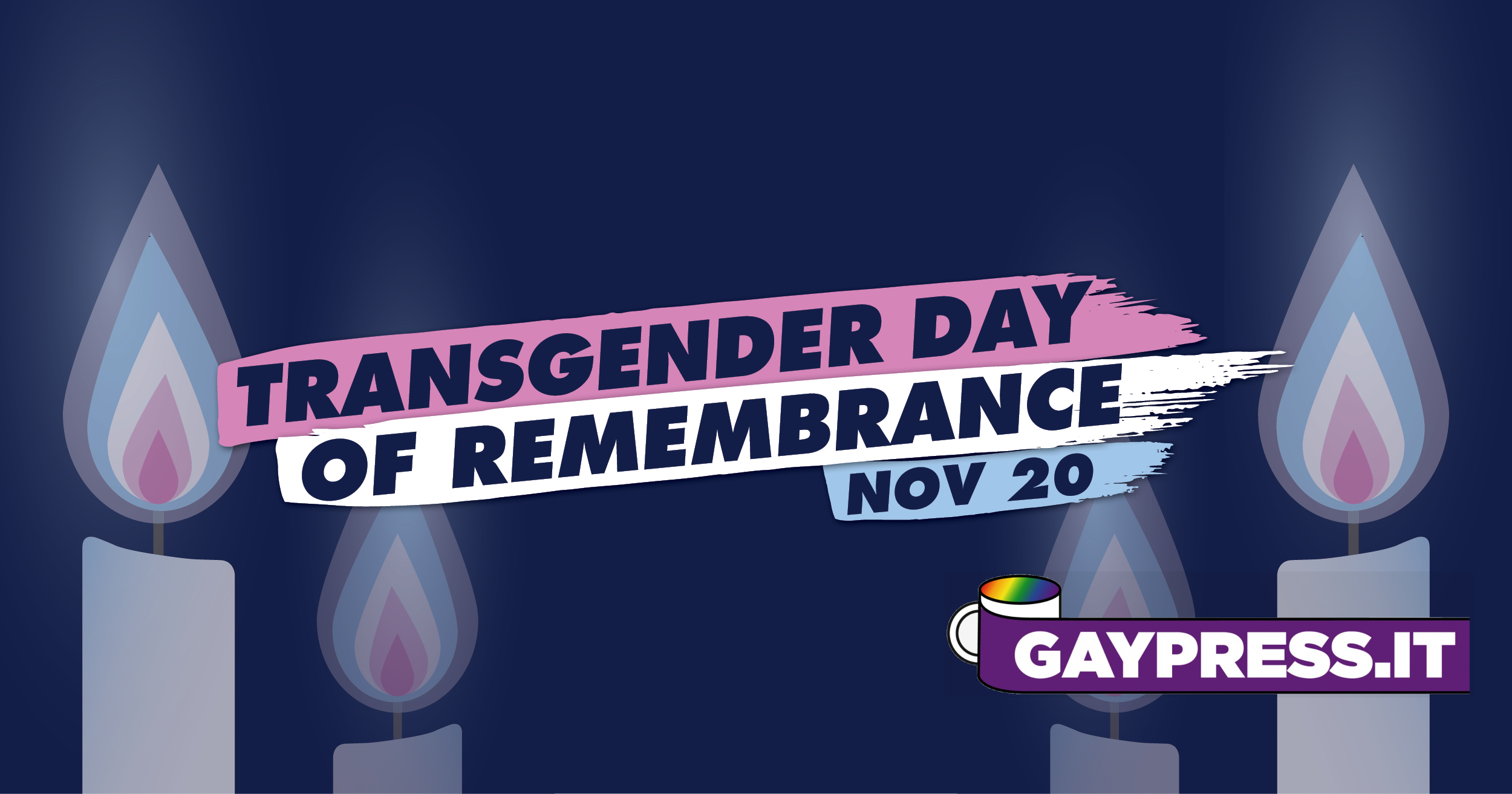 Transgender day of Remembrance si celebra il 20 novembre