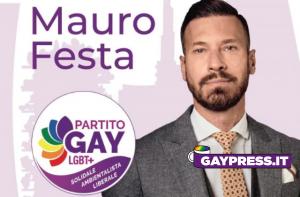 Mauro Festa è il candidato sindaco per il Partito Gay alle elezioni di Milano del 2021