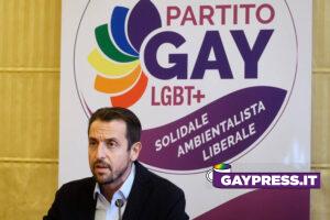 Fabrizio Marrazzo, portavoce del Partito Gay, presente il candidato sindaco alle elezioni comunali di Milano 2021 Mauro Festa