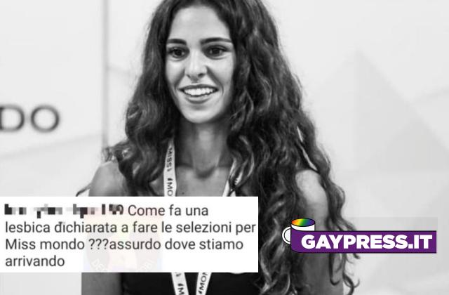 Erika Mattina è tra le finaliste di Miss Mondo Italia e sui Social è stata insultata perché dichiaratamente lesbica
